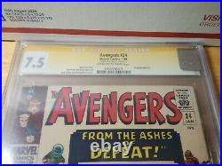 1966 Avengers #24 Signed by Stan Lee CGC SS 7.5 (Should be 8.0) KANG APPEARANCE