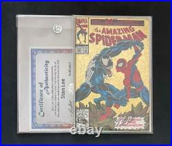 AMAZING SPIDER-MAN #375 SIGNED BY STAN LEE WithCOA VS VENOM HOLOFOIL 1 300