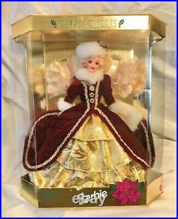 BEAUTIFUL Mattel 1996 Special Edition Happy Holidays Barbie IN ORIGINAL BOX