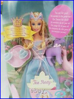 Barbie Princess Collection Swan Lake'Tea Party' #H4809 Doll, HTF New 2004