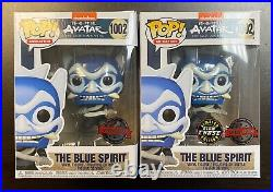 Funko Pop Avatar Last Air Bender The Blue Spirit Chase Special Edition Exclusive