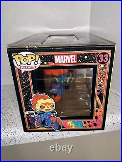 Funko Pop Ghost Rider Black Light Popcultcha Exclusive Special Edition Stickers