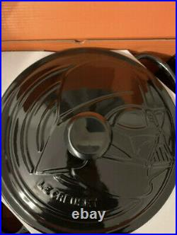 Le Creuset Star Wars Round Dutch Oven Darth Vader Special Edition With POSTER 5.5