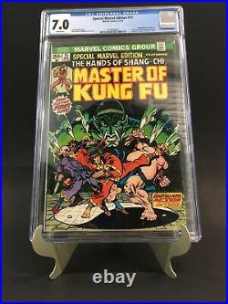 Marvel Special Edition #15 CGC 7.0 WP 1st App Master Kung Fu Shang Chi 1973 RARE
