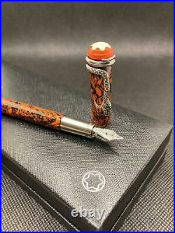 Montblanc Heritage Rouge et Noir Marble Special Edition Fountain Pen- BRAND NEW