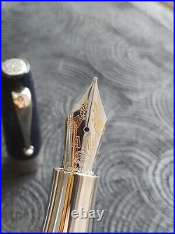 Montegrappa Extra Amerigo Vespucci Butterfly Fountain Pen Limited Edition M Nib