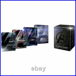 NEW Avengers 4-Movie Collection SteelBook (4K Ultra HD + Blu-Ray + Digital)