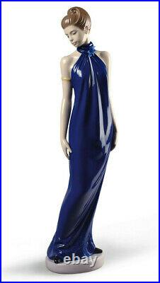 Nao By Lladro Elegance Special Edition #1831 Brand Nib Woman Blue Dress Save$ Fs