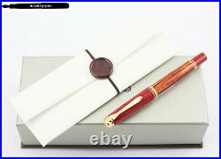 New Pelikan Fountain Pen M600 Tortoiseshell Red Special Edition 2020 14K F, M, B