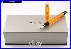 New Pelikan Piston Fountain Pen M600 Vibrant Orange Special Edition from 2018