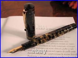 OMAS Extra Lucens Black-Gold Limited Edition Fountain pen Medium 18kt nib MIB