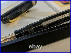 OMAS Extra Paragon Old Version 1991 Perla Celluloid Fountain Pen, NOS