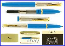 Parker 51 Fountain Pen Empire State Special Edition Medium Pt New In Box