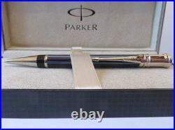 Parker Duofold Ballpoint Pen Special Edition Navy Pinstripe New In Box Beauty