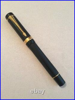 Parker Duofold Greenwich Meridian Special Edition 18k Nib Fountain Pen-superb