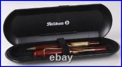 Pelikan M101N Red Tortoiseshell Special Edition Fountain Pen M200 Pencil Set 14K