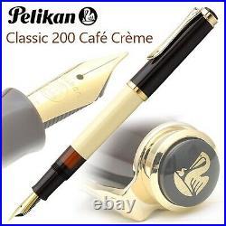 Pelikan M200 Classic Fountain Pen Nib EF M B Cafe Cream Special Limtited Edition