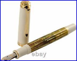 Pelikan M600 Fountain Pen Tortoise White Special Edition F Pt New In Box 908674