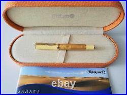 Pelikan Sahara Fountain Pen Special Edition 18Kt Gold Medium Pt New In Box