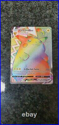 Pikachu Vmax special edition rainbow vivid voltage mint condition Pokemon card