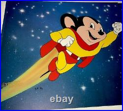 Rare mighty mouse animation cel terrytoons special proof edition number 2 cell