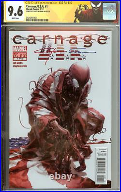 SPECIAL CGC LOGO Carnage USA #1 VARIANT Clayton Crain CGC 9.6