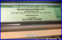SPECIAL MARVEL EDITION #11 (1973) - MANUFACTURING ERROR - CGC 5.0 Qualified