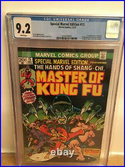 SPECIAL MARVEL EDITION #15 MASTER OF KUNG FU CGC 9.2 1st App. Shang-Chi