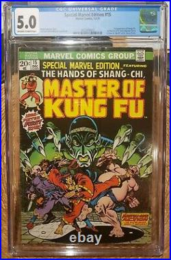 SPECIAL MARVEL EDITION #15 Marvel 12/73 Master of Kung Fu Shang-Chi CGC 5.0