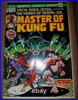 SPECIAL MARVEL EDITION #15 Master Of Kung Fu Shang-Chi Mark Jewelers variant