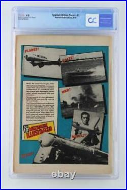 Special Edition Comics #1- CGC 4.0 VG FAWCETT 1940 1st Captain Marvel Book