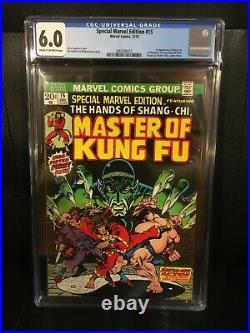 Special Marvel Edition 15 CGC 6.0 1st Master Of Kung Fu, Shang Chi & Fu Manchu