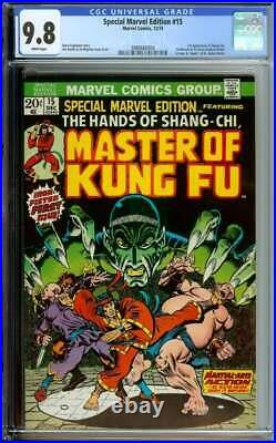 Special Marvel Edition #15 Cgc 9.8 White Pages // 1st App Of Shang-chi 1973