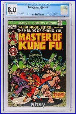 Special Marvel Edition #15 Marvel 1973 CGC 8.0 1st App Shang-Chi & Fu Manchu