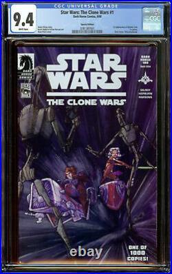 Star Wars Clone Wars #1 Special Edition CGC 9.4 WP -1st Ahsoka Tano in Comics