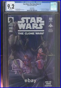 Star Wars The Clone Wars #1 Cgc 9.2 White Pgs 1st Ahsoka Dh-100 Special Edition