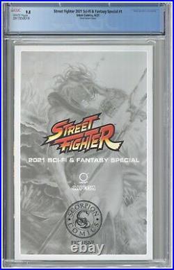 Street Fighter 2021 Sci-Fi & Fantasy Special #1 CGC 9.8 Chew Virgin Variant COA