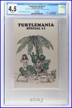 Turtlemania Special #1 Metropolis 1986 CGC 4.5 Silver Edition Signed