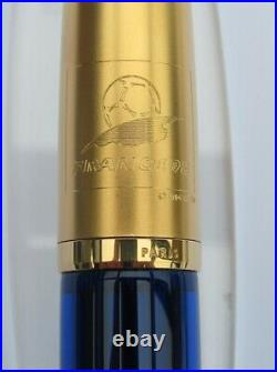 Waterman Edson Saphire Blue Fountain Pen Rare 1998 World Cup Special Edition